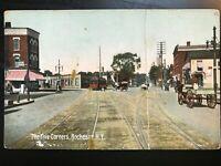 Vintage Postcard>1909>The Five Corners>Rochester>N.Y.