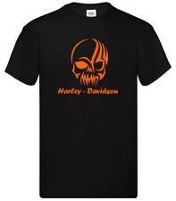 Maglietta T-Shirt motorcicle moto Harley Davidson Inspired Striped Skull