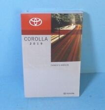 19 2019 Toyota Corolla owners manual Brand New Still In Plastic