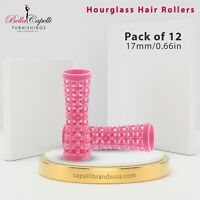 Mini-Pink 17mm/0.66in – Pack of 12 - Hourglass / Tension Natural Hair product