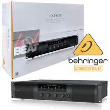 Behringer NX4-6000 6000w 4-Channel Class-D Power Amplifier Amp NX46000