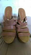 Levi's Women's Yucca Valley Brown High Heel Mules Pumps Sandals UK 8 41 EU