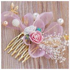 Capelli Pins 6 PINK PEARL cordone condita spilli lunghezza 55 mm Wedding BUSTINO Prom Cappello