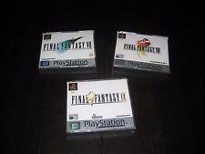 Final Fantasy VII 7 VIII 8 IX 9  Set of Playstation Squaresoft PAL Set Complete