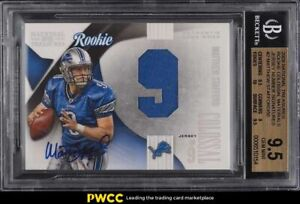 2009 National Treasures Colossal Matthew Stafford ROOKIE PATCH AUTO /50 BGS 9.5
