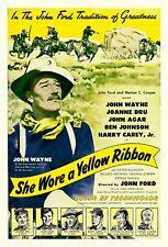 "John Wayne movie poster She Wore A Yellow Ribbon 11.7"" x 16.5"""