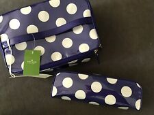 Kate Spade Large Colin Cobblestone Park 2 PC Cosmetic Bag Makeup Case