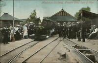Isle of Man Groudle Glen Miniature RR Railway Train c1910 Postcard