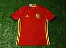 SPAIN NATIONAL TEAM 2015-2016 FOOTBALL SHIRT JERSEY HOME ADIDAS ORIGINAL YOUNG M