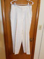 Linda Allard Ellen Tracy womens ivory cream 100% silk dress pants slacks size 12