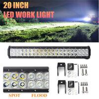 Aluminio Barra de luz Lámpara luz LED trabajo 126W 6000K 12600LM coche camión