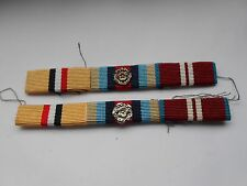 two modern medal ribbon bars both  with two rosette