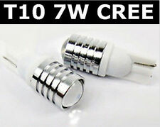 2x T10 7W CREE LED BRIGHT XENON WHITE Parking Wedge W5W Side Stop Light Bulb
