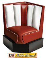 hw-60/60-ruby American Banco de comedor rinconero RESTAURANTE Muebles 50´s