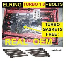 "Audi A4 TT VW 1.8 TURBO 2001 2005 ""OEM"" Cylinder Head Gasket Set Rinz Bolts"