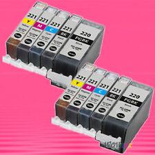 10 NON-OEM INK alternative for CANON PGI220 CLI221 PIXMA iP3600 iP4600 iP4700