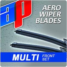 "24""/19"" Front Aero Ap Exact Fit Flat Wiper Blades Beam Window Windscreen V3"
