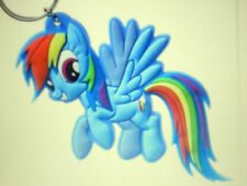 "MY LITTLE PONY DASH RAINBOW COLORED TAIL AND MANE 3 1/8""X2"" RUBBER KEY CHAIN NEW"