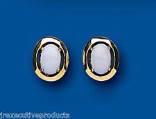 Opale Orecchini Ovale opale Bottone Oro Giallo opale orecchini