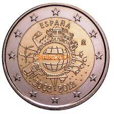 2 EURO COMMEMORATIVO SPAGNA 2012 10° Anniversario