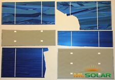 250g Broken Solar Cells Un-tabbed 0.9 Watts Each  (70+ total watt) DIY SOLAR 50%