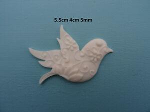 Decorative bird applique onlay resin furniture moulding decal M11