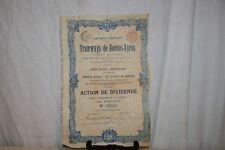ANCIENNE ACTION COMPAGNIE GÉNÉRALE DE TRAMWAYS DE BUENOS-AYRES DE 1907.