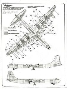 Warbird B-36 Peacemaker Commun Pochoirs & Insignes Décalques 1/72 003