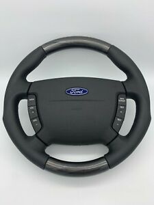 FORD / FPV BA-BF Falcon Genuine Steering Wheel Black Leather Rabbit Rose