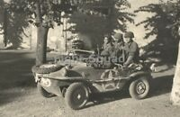 WW2 Picture Photo Italy 1944 US soldiers in a captured German Schwimmwagen 2866