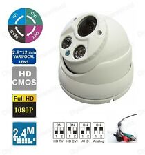 HD 2.4MP Varifocal 2.8-12mm lens 2PCS Matrix IR Dome CCTV Camera BNC TVI
