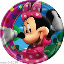 MINNIE MOUSE Clubhouse LARGE PAPER PLATES (8) ~ Birthday Party Supplies Dinner