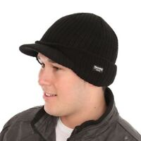 Thinsulate Knitted Hat With Peak Black One Size