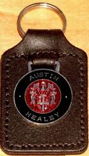 Austin Healey Keyring Key Ring - badge mounted on a leather fob