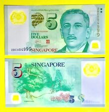NEW Singapore $5 Five Dollar Polymer Note UNC (2BC094999)