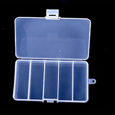 5 Compartments Transparent Fishing Lure Bait Tackle Case Waterproof Storage Box