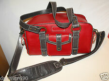Canon Bag Case Red Burgundy Croc Leather RARE!!!