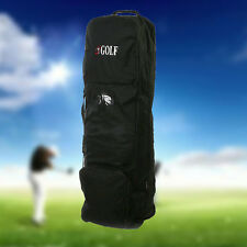Flight Travel Golf Bag Carrying Coverall Cases Cover Carrier with Wheels