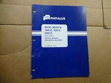 Fiat Allis M100 100-C 200-C Rear Wheel and Brake Service Repair manual book