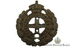 Northamptonshire Regiment OFFICERS Bronze Collar Badge - Northampton Officer's