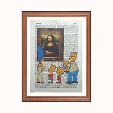 THE SIMPSONS VS LEONARDO DA VINCI-LA GIOCONDA-DIZIONARIO ART PRINT Gift