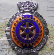 c1950 Vintage Car  Mascot Badge : Rotary International by J.R. Gaunt , London .