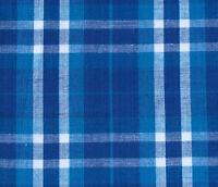 Lightweight 100/% Cotton Madras Plaid Fabric Black//Brown//White//Blue Sold BTHY