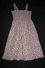 GYMBOREE Vintage Bohemian? Smocked Sundress XL 6 Summer Dress Olive Green Pink
