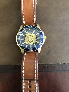 Invicta automatic watch 17260 with Bas & Lokes leather strap