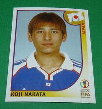 N°537 KOJI NAKATA JAPON PANINI FOOTBALL JAPAN KOREA 2002 COUPE MONDE FIFA