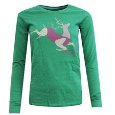 Camisas y tops de mujer verdes Nike