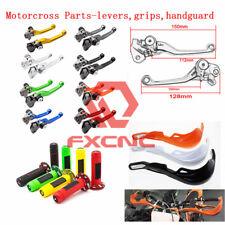 FXCNC Pivot Clutch Brake Levers/Handguard/Handlebar Grips For Kawasaki Yamaha