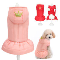 Hundebekleidung Hundeshirt Winter Weste Hundemantel Chihuahua Jacke Rosa XS-2XL