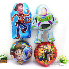 4pcs Toy Story Woody Buzz Lightyear Helium Foil Balloons Boy Party Supplies